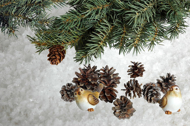 dobar 99401 Winter di decorazione pacchetto composto da neve finta, Coni di pino, Abete rami e gli uccelli Decorative Set, Plastica, Bianco, 40 x 40 x 15 cm 40x 40x 15cm