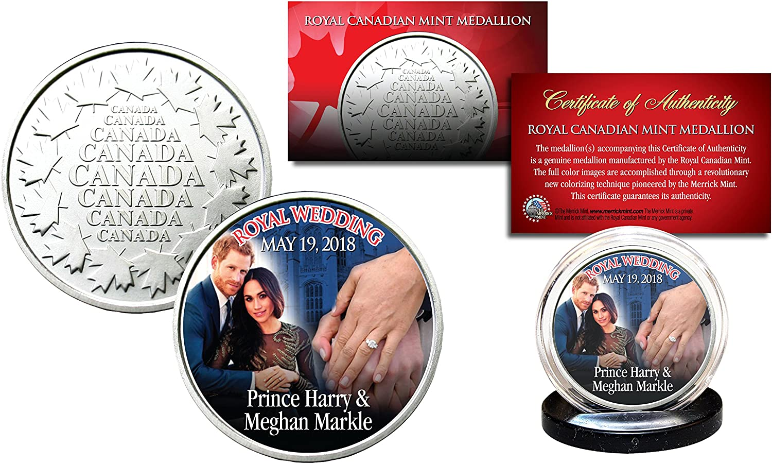 PRINCE HARRY /& MEGHAN MARKLE Royal Wedding May 19th 2018 RCM Medallion Coin