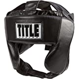 TITLE Boxing Hi-Performance Leather Headgear, Black