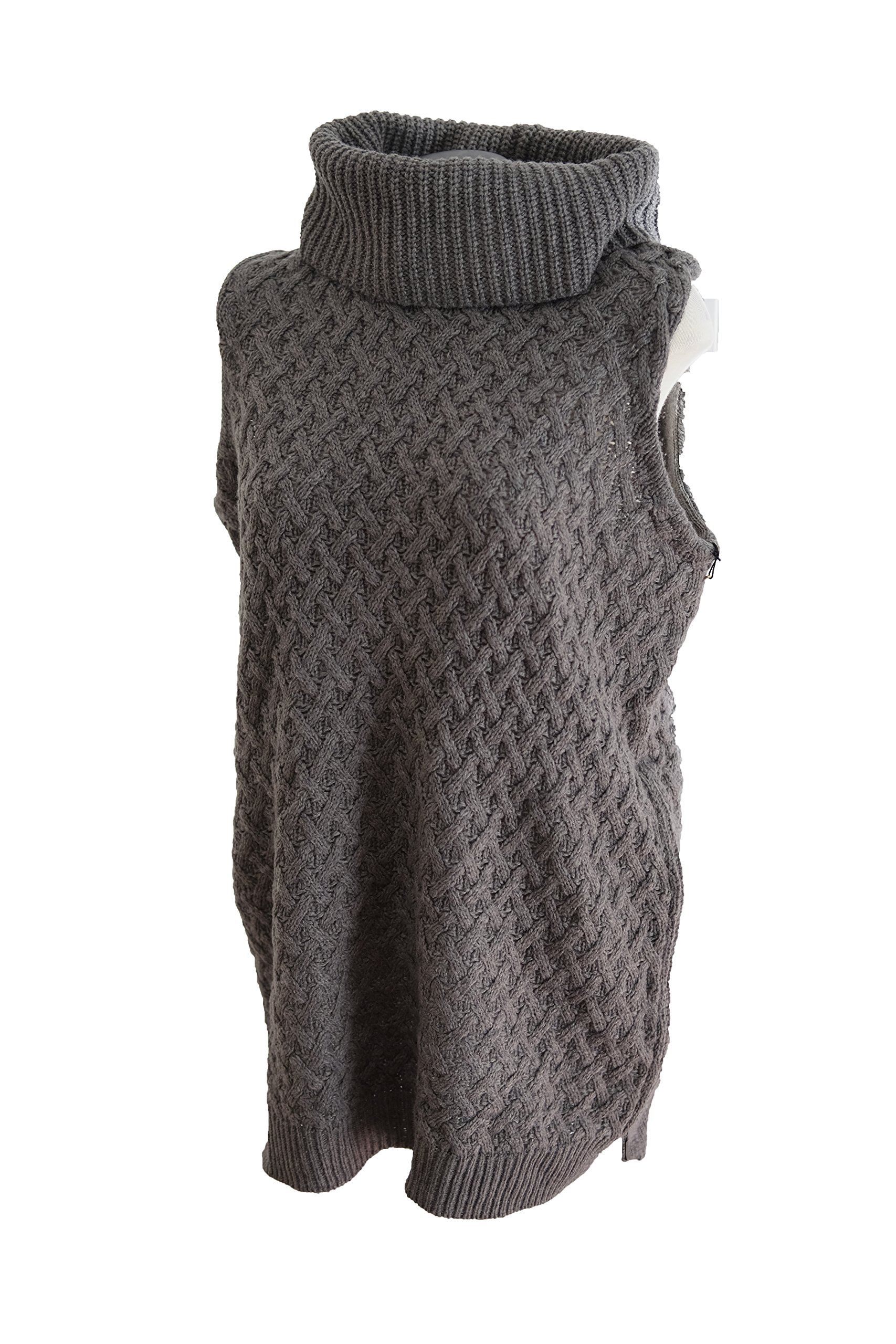 Adrienne Vittadini Turtleneck Vest Sweater Large