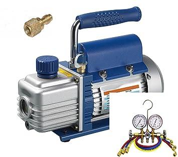 Set Climatizacion Refrigeracion, Bomba de vacío TÜV + Analizador + mangueras, 51-57 lt, R22 R134a R404a R410a, NUEVO: Amazon.es: Hogar