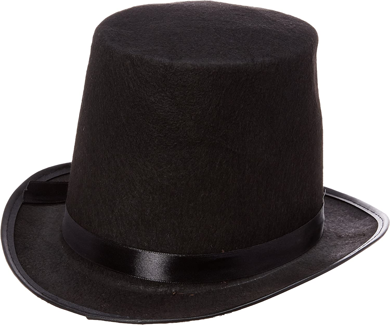 Black Top Hat Deluxe Greatest Showman Fancy Dress Accessory Adults
