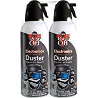 Dust-Off 10 oz Compressed Gas Duster, 2 Pack (DSXLP)