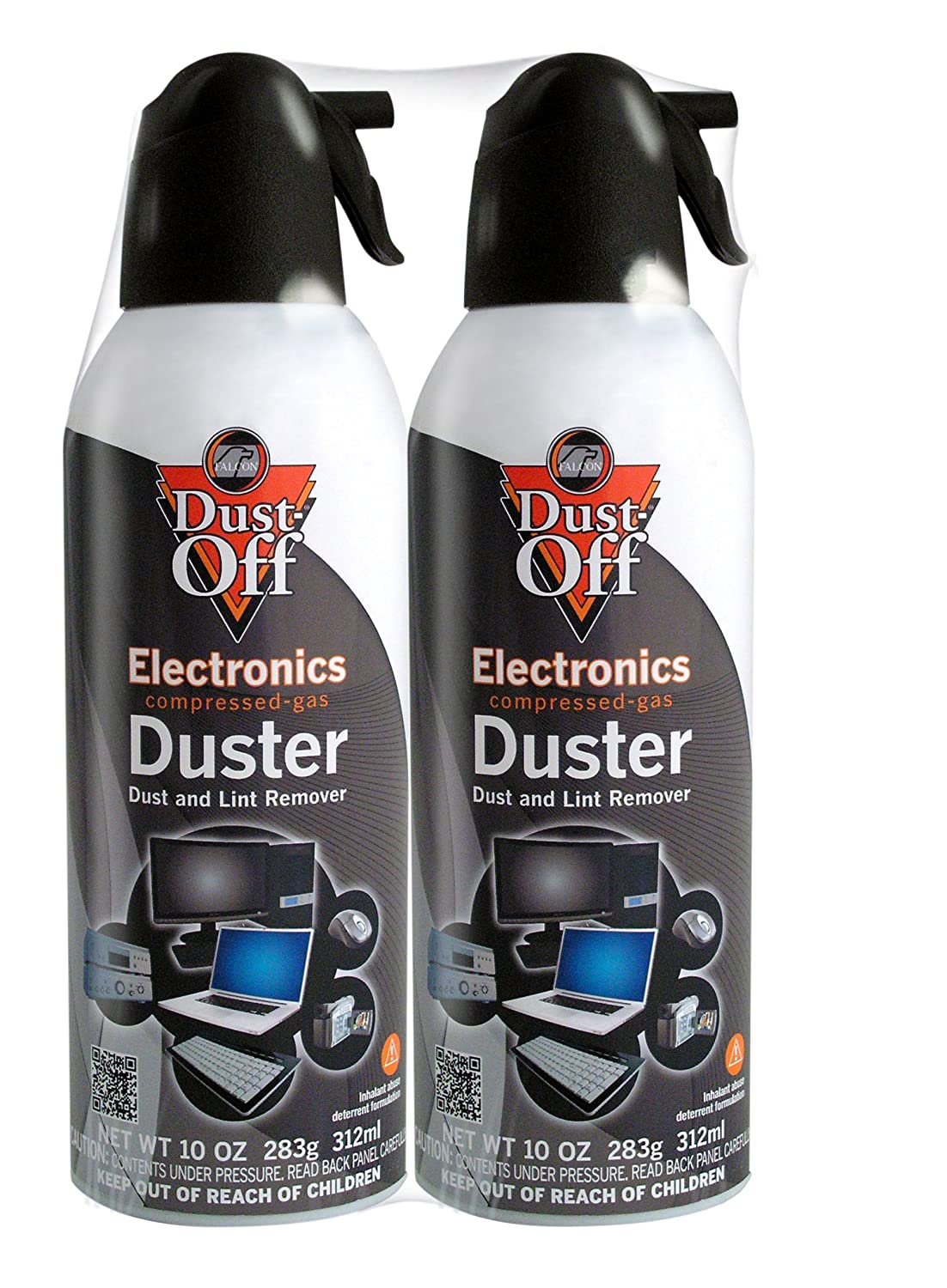 Dust-Off 10 oz Compressed Gas Duster, 2 Pack (DSXLP) Falcon Safety (OS) DSXLP\