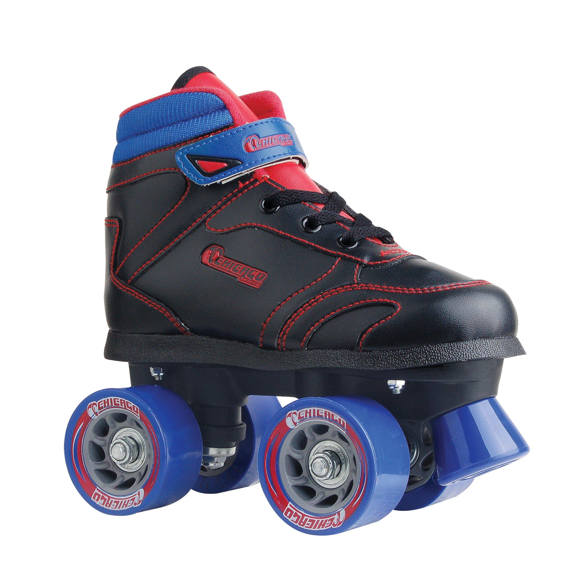 Chicago Boys Sidewalk Roller Skate- Black Size 1