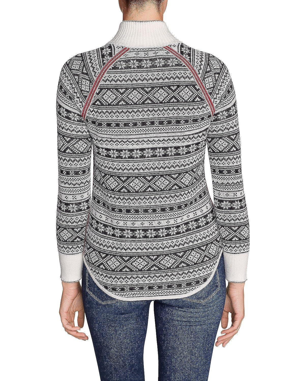 303fa888012aa Eddie Bauer Women s Engage Fair Isle 1 4-Zip Sweater at Amazon Women s  Clothing store