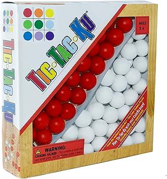Mad Juegos Cueva 1025 Tic-Tac-Ku Add On Unidad de rojo y blanco Bolas: Amazon.es: Juguetes y juegos
