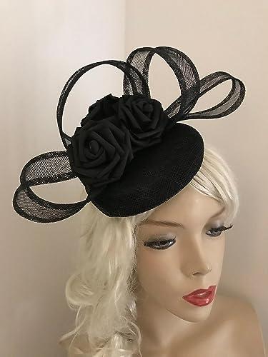 ab196e98495 Black Fascinator Pillbox Hatinator on Headband