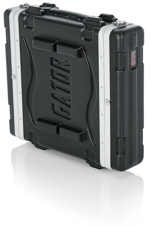 Gator 8U 49 cm Rack//Consola profunda PE moldeada, cremalleras, delantero//trasero, cierre