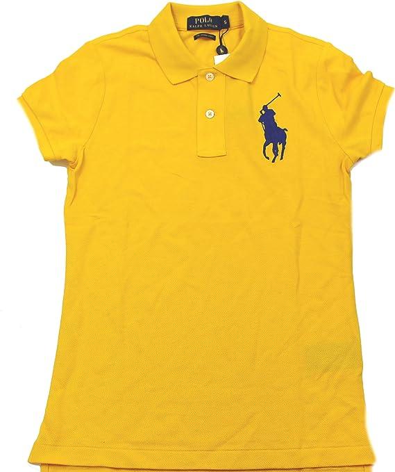 Polo_Ralph Lauren - Polo - para Mujer Amarillo Amarillo S: Amazon ...