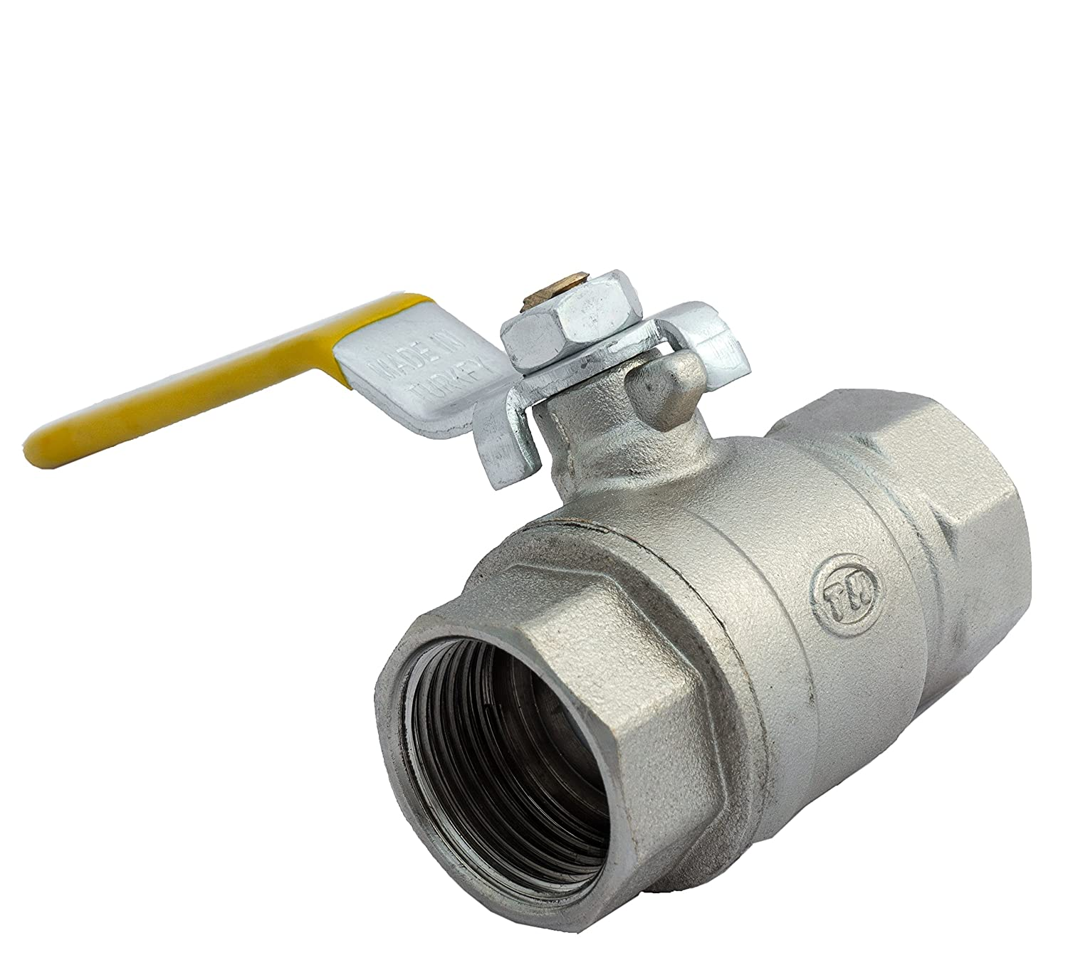 3/4' Gas Ball Valve FEMALE X FEMALE BSP TF with Yellow Lever Handle BFG