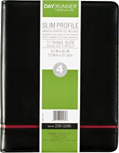 Day Runner Undated Loose-Leaf Starter Set, Slim Profile, 5.5 x 8.5 Inch Page Size, Color May Vary (206-0286)