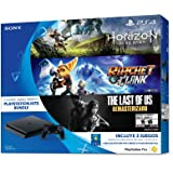 Consola PlayStation 4 Slim, 500 GB, con Juegos Horizon Zero Dawn, The Last of Us, Ratchet & Clank - Hits Bundle - Hits Bundle Edition