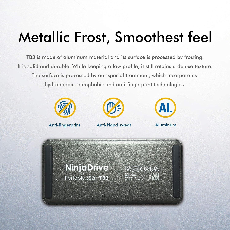 NinjaDrive SSD portátil - Thunderbolt 3 SSD Externo para MacBook y ...