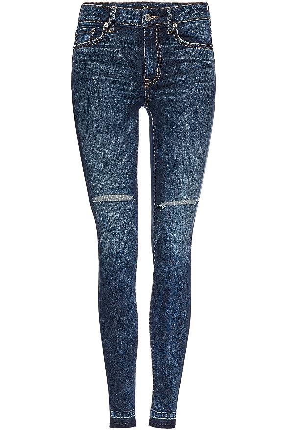 3 opinioni per find. Jeans Skinny a Vita Alta con Strappi Donna