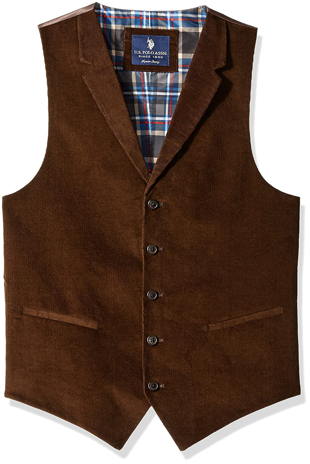 1920s Style Mens Vests U.S. Polo Assn. Mens Corduroy Vest $29.99 AT vintagedancer.com