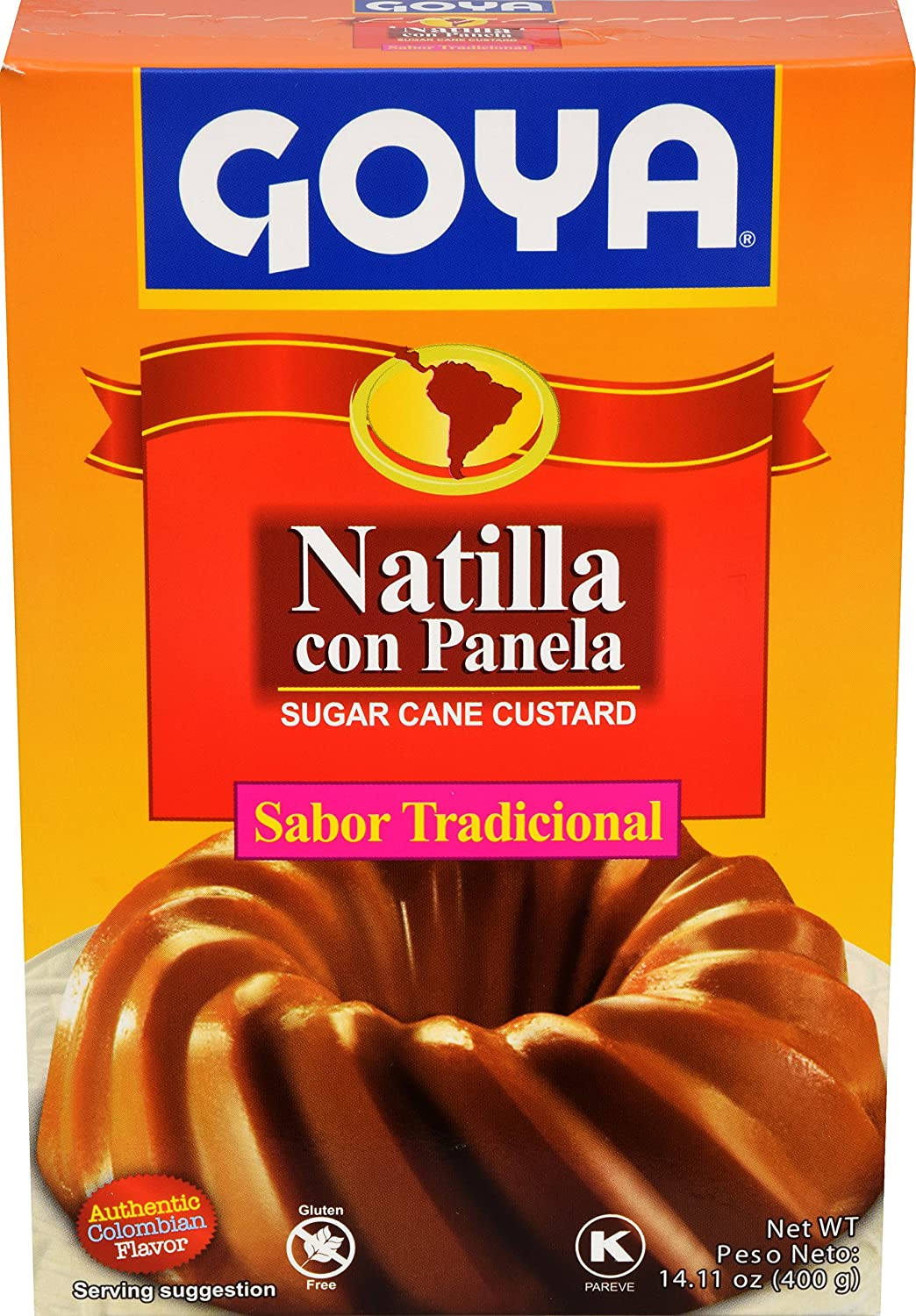 Amazon.com : Goya Foods Natilla Con Panela Sugar Cane Custard, 14.11 Ounce (Pack of 20) : Grocery & Gourmet Food
