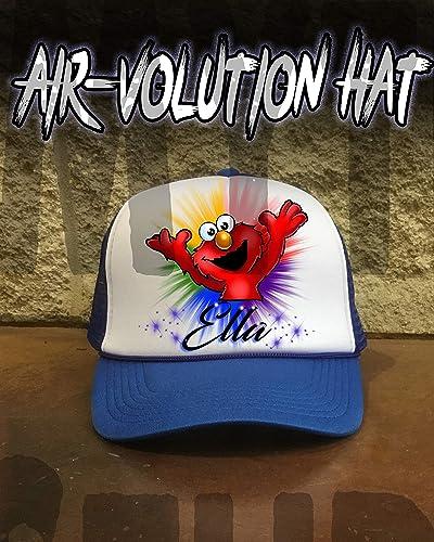 negozio online cerca le ultime una grande varietà di modelli Mythic Airbrush Personalizzata Airbrush Elmo Cappello ...