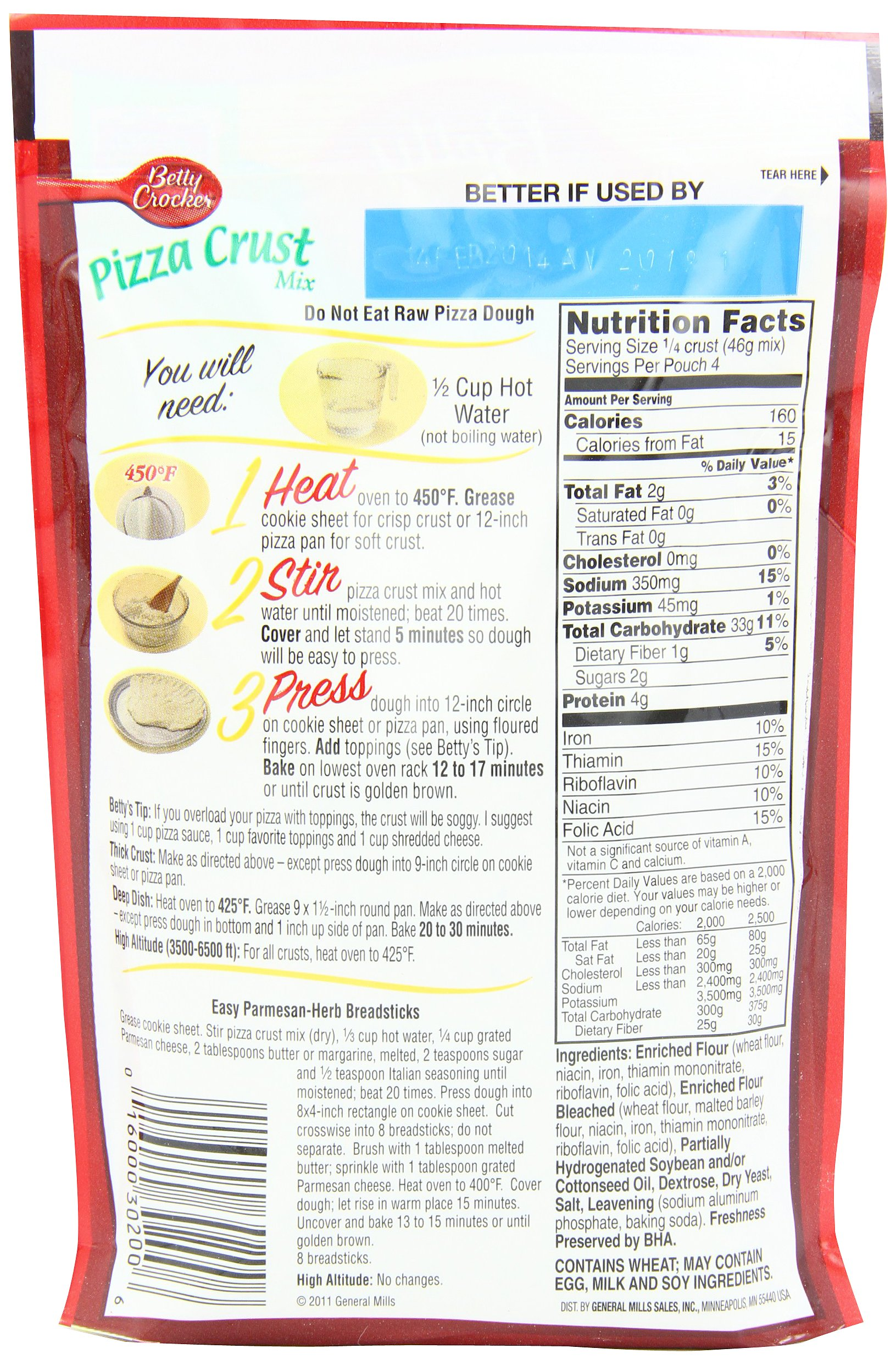 Betty Crocker Pizza Crust Mix, 6.5-Ounce Pouches (Pack of 24) by Betty Crocker (Image #1)