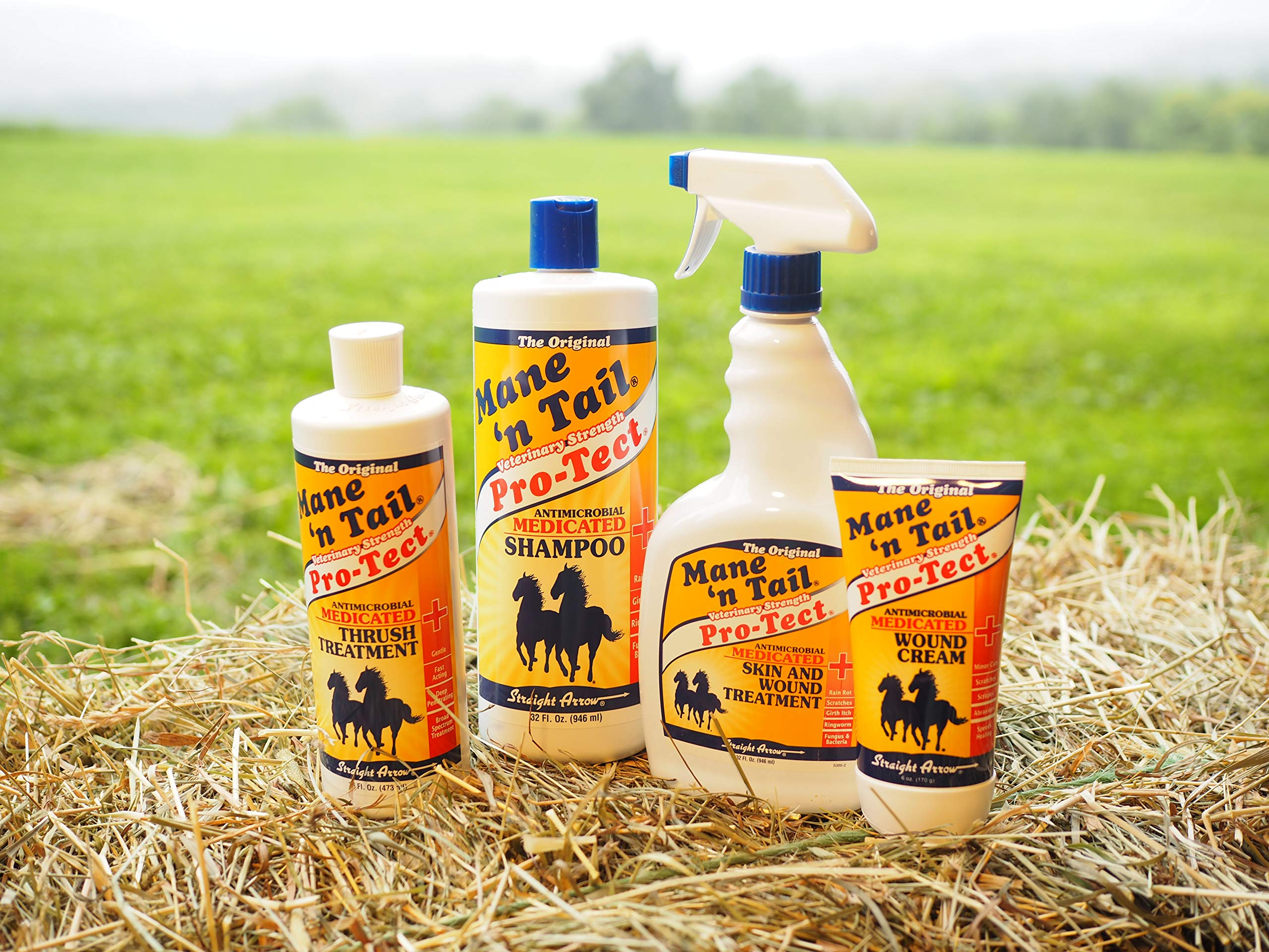 Mane 'n Tail Pro-Tect VETERINARY STRENGTH MEDICATED Skin and Wound Treatment 32 Ounce Spray