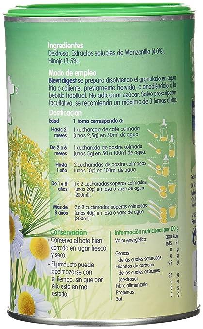 Blevit Digest, Infusión de hierba - 150 gr.: Amazon.es: Alimentación y bebidas