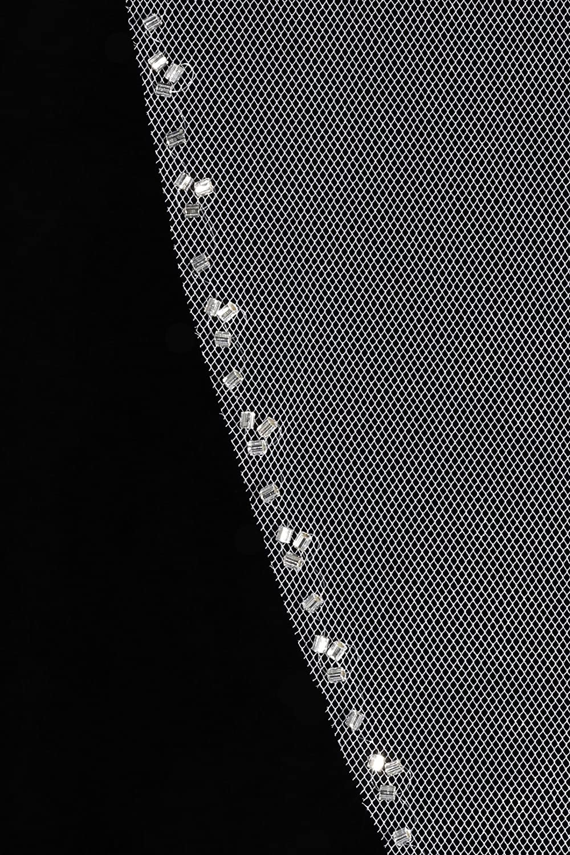 SAMKY 1T 1 Tier Beaded Edge Bridal Wedding Veil