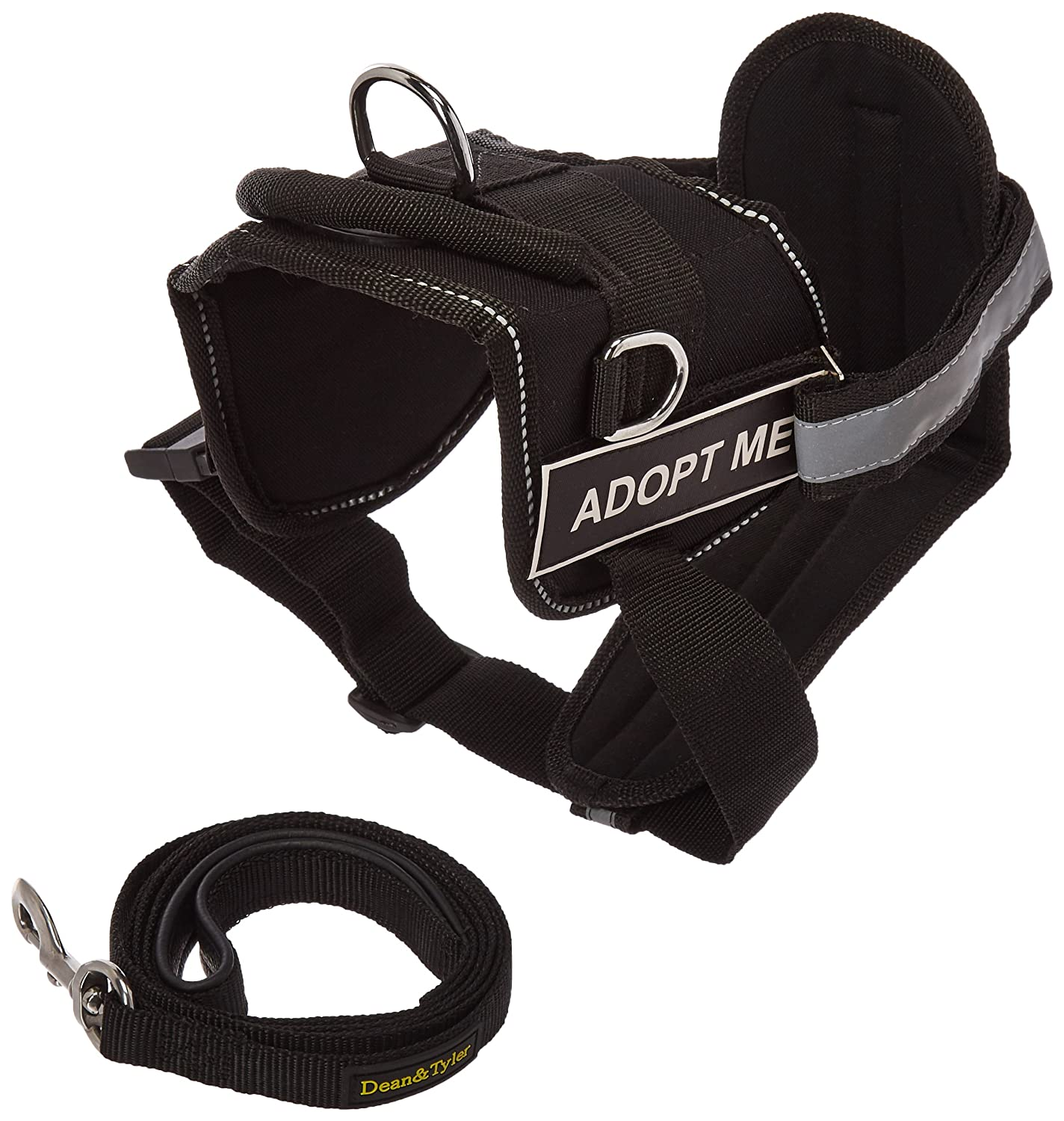 Dean & Tyler 25 by 34-Inch Adopt Me Dog Harness with Padded Puppy Leash, Small