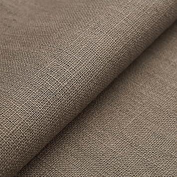 Auténtico Lino Ecológico BASIC - Tela de lino natural y pura - Por metro (Piedra): Amazon.es: Hogar