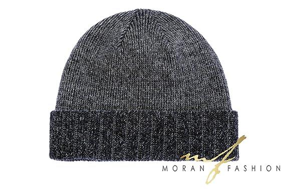 e361aa8402f Moretti Men s Fashion Luxuries Winter Warm Knitted Beanie Hat New Design Cashmere  Wool (DARK GREY