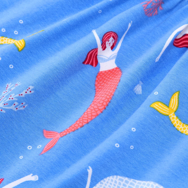 Girls Unicorn Dress Cotton Kids Mermaid Dress,Toddler Leggings