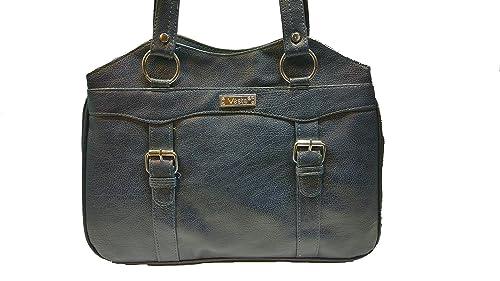 9c84c5268c9 Vesta Stylish Casual Form Leather Handbag for Women   Girls (Dark ...