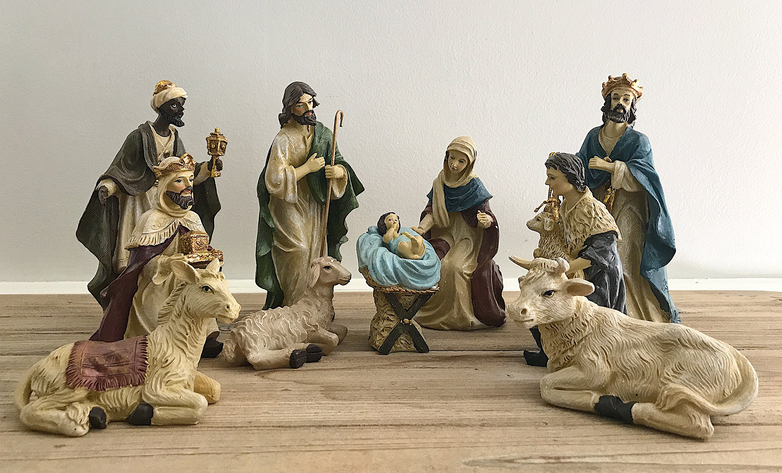 Heartland (poly-resin) N0145 5'' Poly-resin Nativity Set 11 Piece
