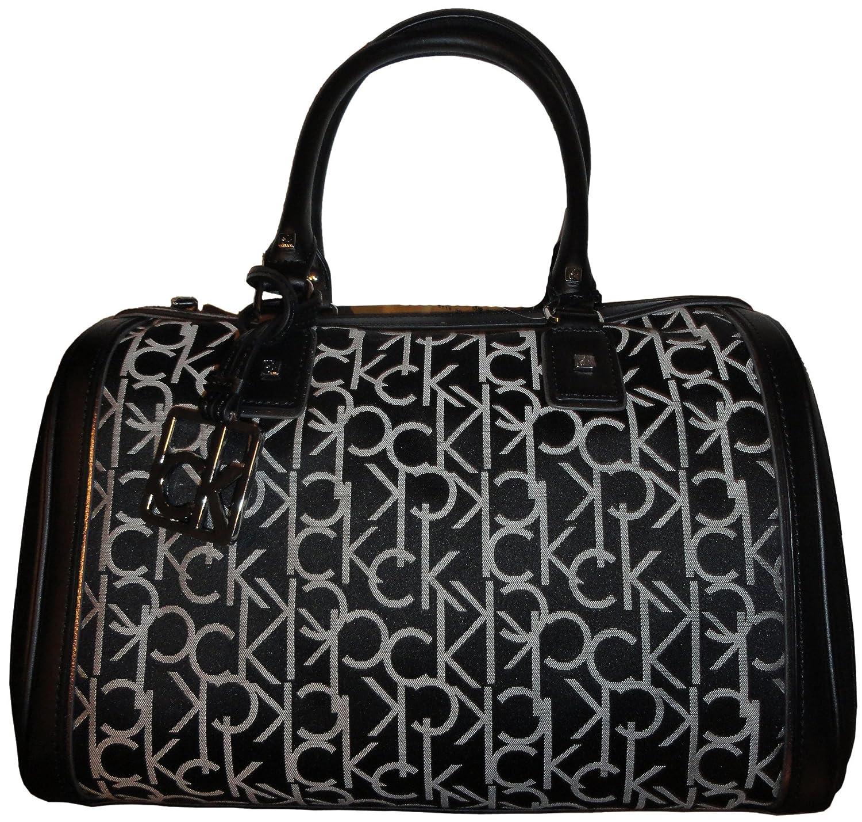 Amazon.com  Women s Calvin Klein Purse Handbag Hudson Signature Jacquard  Black White  Shoes 41b84ec01e