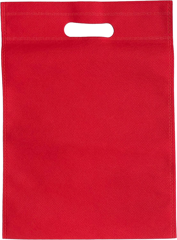 200bolsas 25cm x 35cm mercancía bolsas tela no tejida bolsas de la compra respetuoso con el medio ambiente, reutilizable y biodegradables, bolsas para la vida–Color Rojo
