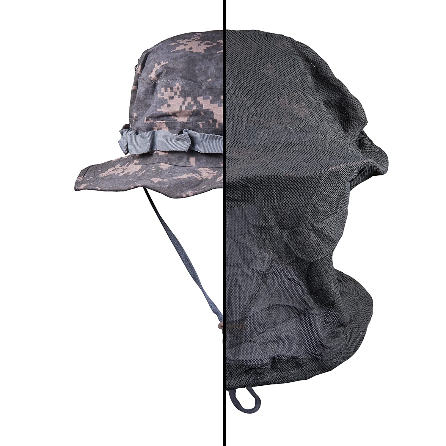 Mosquito Net Hat with Hidden Attached Mosquito Net、バグスプレー必要なくon your face to protect you when the Bugs Come Out by Tofl B06XR9N167 Universal Camouflage