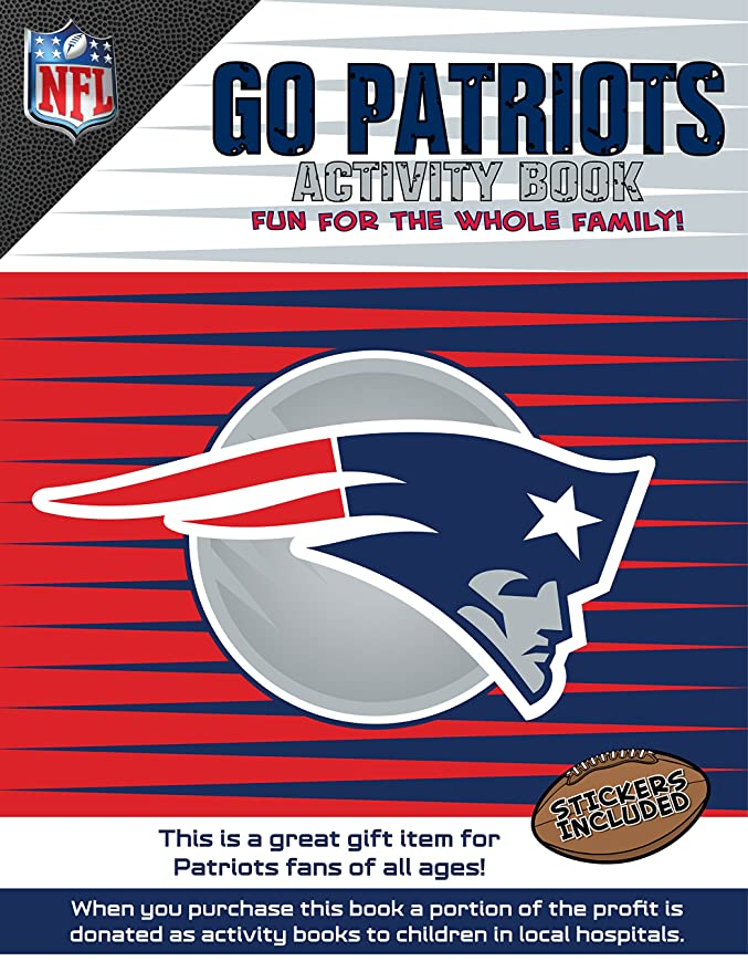 Go Patriots >> In The Sports Zone Nfl New England Patriots Activity Book Blue Red One Size