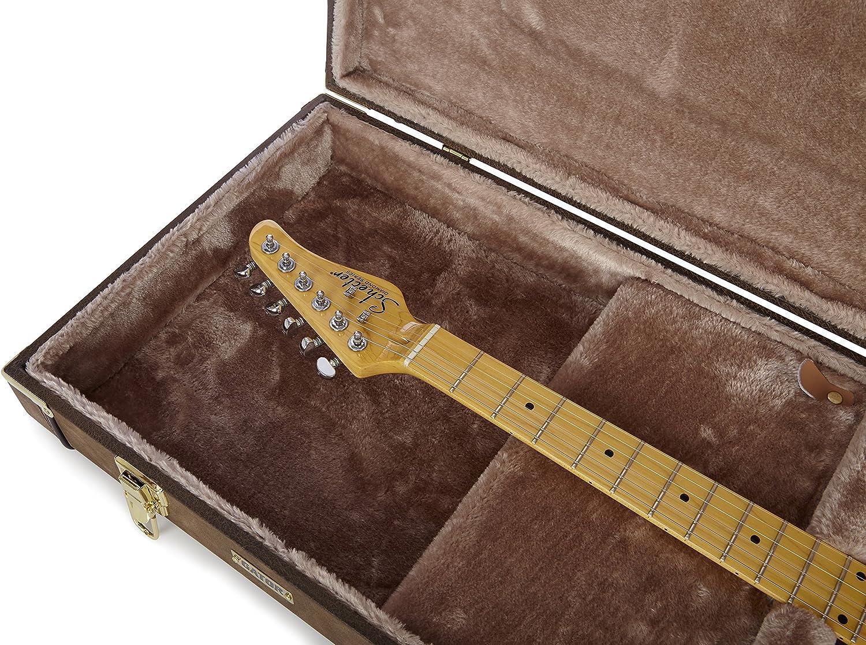 GATOR GW-ELECT-VIN - Estuche para guitarra eléctrica de madera, Castaño: Amazon.es: Instrumentos musicales