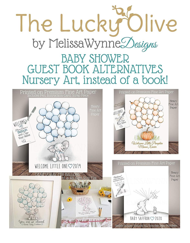 Balloon Sign In ebt-BLGY-BL kp19 Blue Elephant Baby Shower Guest Book Alternative Baby Shower Birthday