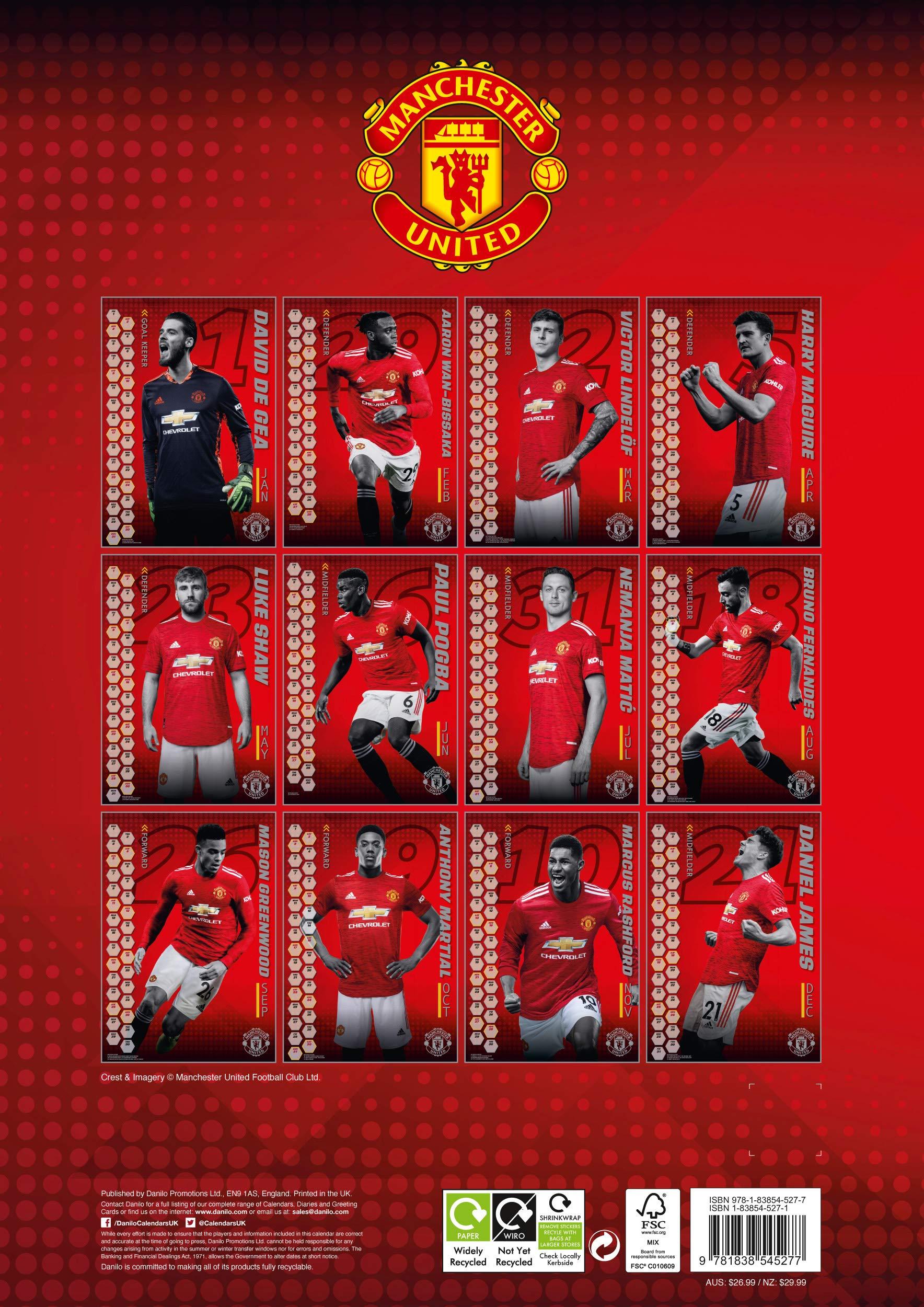 Utd Calendar 2021 The Official Manchester United Calendar 2021: United, Manchester