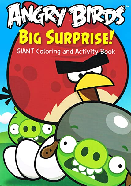 Amazon.com: Angry Birds Mission Giant Coloring And Activity Book (Assorted  Styles): Toys & Games