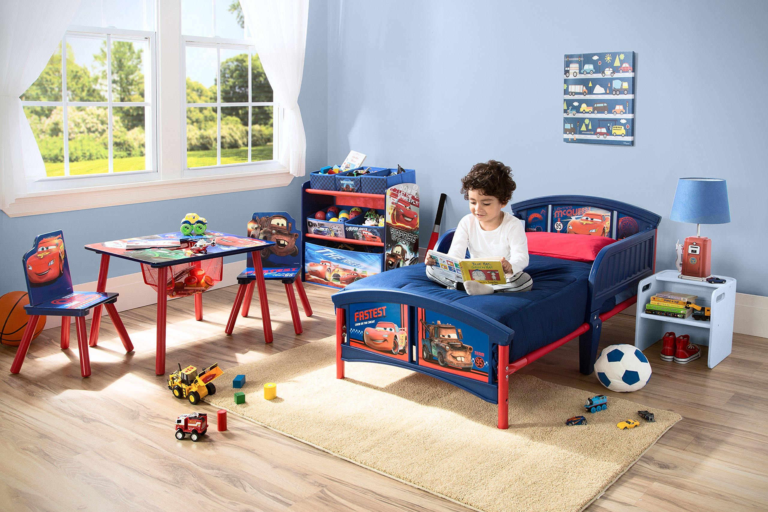 disney cars plastic toddler bed kids bedroom furniture 19968 | 91upt7xw9tl