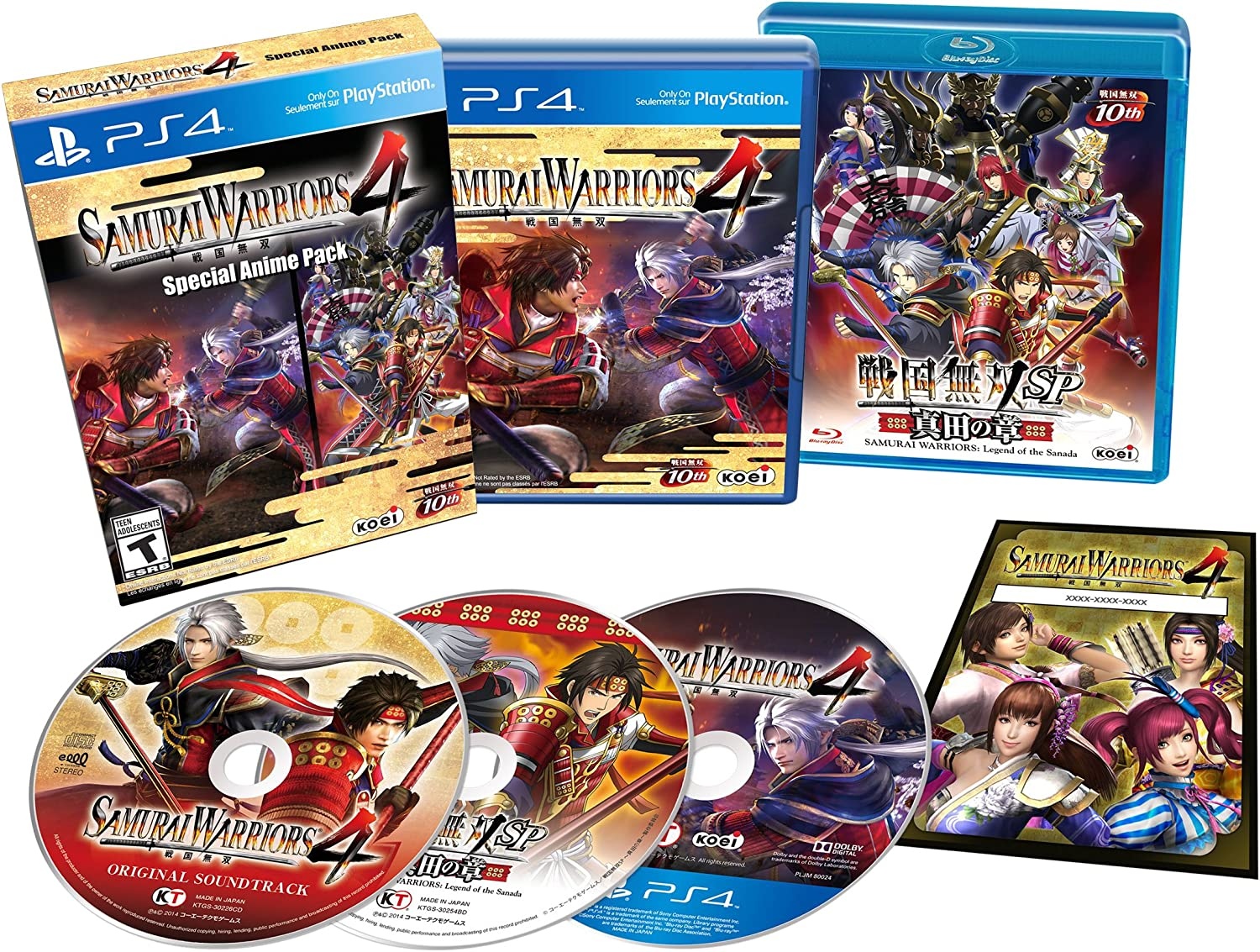 Amazon com samurai warriors 4 special anime pack playstation 4 video games