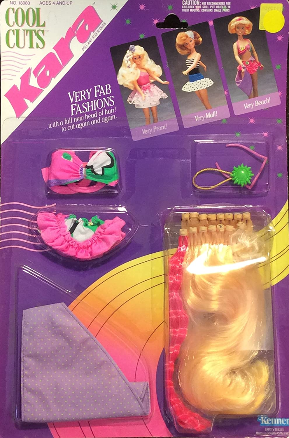 dff99c69d8 Amazon.com  COOL CUTS KARA ACCESSORIES NO. 18080 (1990) by Kenner  Toys    Games
