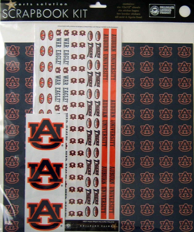 Sports Solution Auburn Tigers Scrapbook Page Kit
