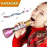 NeWisdom マイク カラオケ ipad iphone スマホ パソコンに対応(bluetooth microphone karaoke 紫)