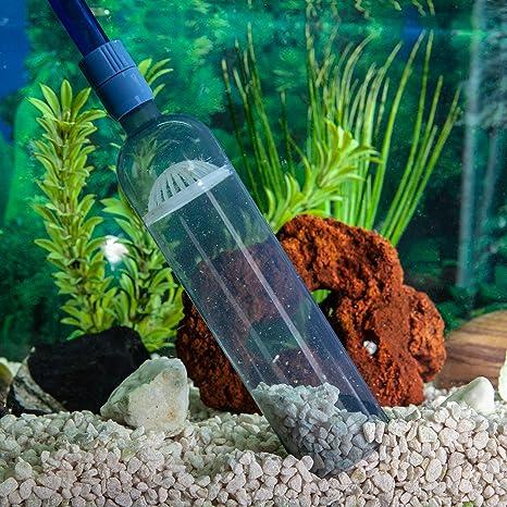 Limpiador de acuario, bomba de sifón al vacío con control de flujo- Limpiador de grava con ...