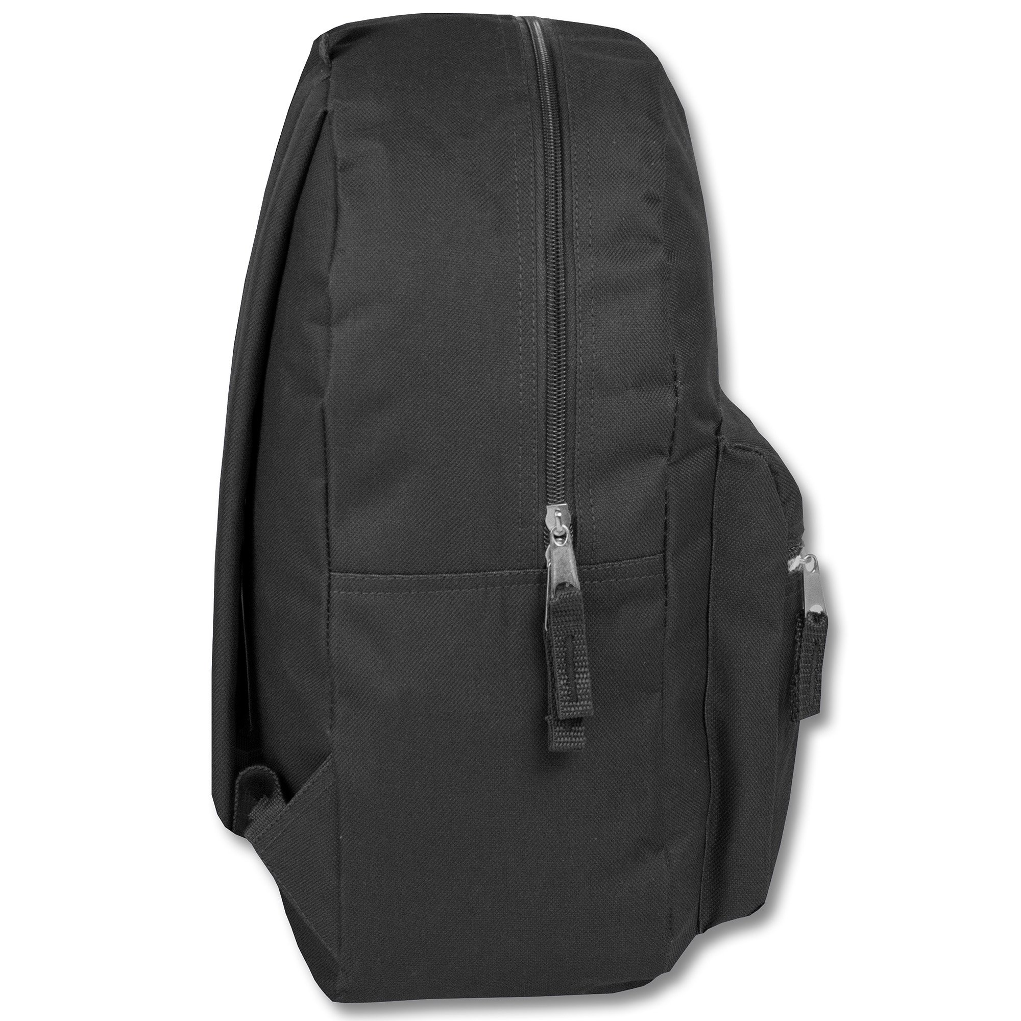Classic Traditional Solid Backpacks with Adjustable Padded Shoulder Straps (Black) by Trail maker (Image #2)