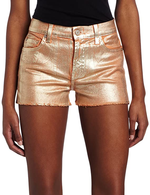 Amazon.com: 7 For All Mankind Foil Cut Off pantalones cortos ...