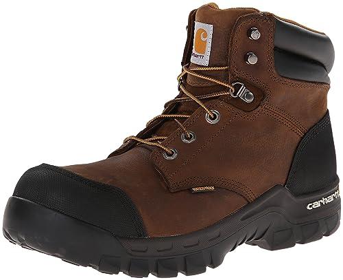 cd7a2dc1f12 Carhartt Men's CMF6380 Rugged Flex Six Inch Waterproof Work Boot