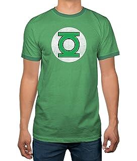 e0048d036 DC Comics Justice League Green Lantern Logo Licensed Ringer Mens T-Shirt